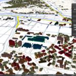 宗像市の建物3Dモデル